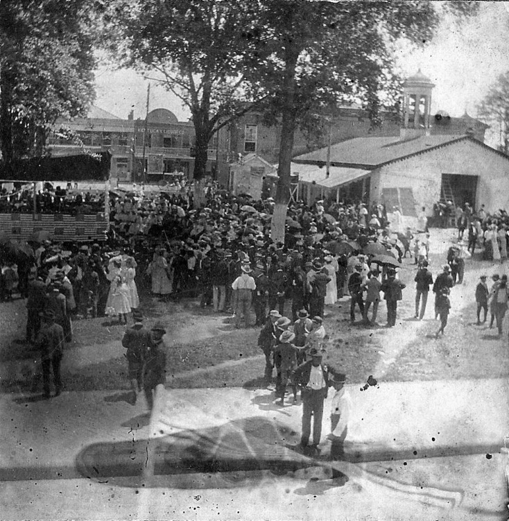 July 4, 1904 celebration at the back of the Alexandria City Hall