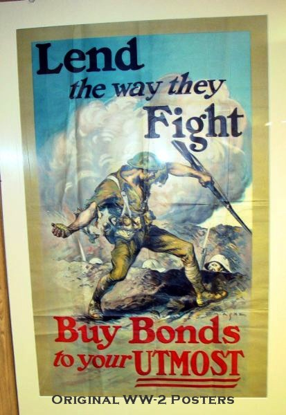 Early original WWII poster