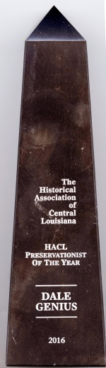 Dale Genius Honored as Central Louisiana Preservationist of the Year