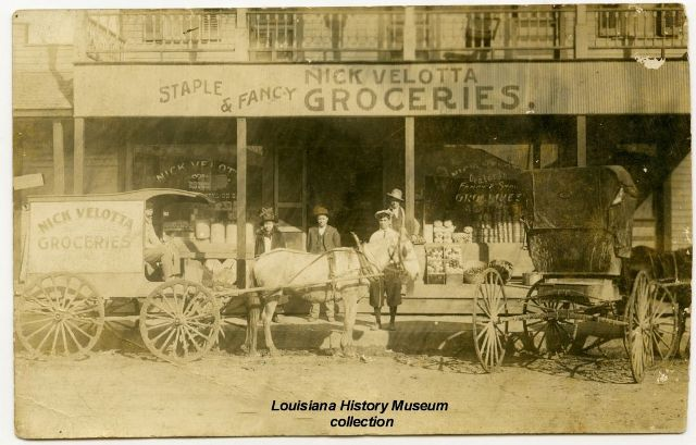 Nick Velotta Grocery located on Gould Avenue, today known as Rapides Avenue.